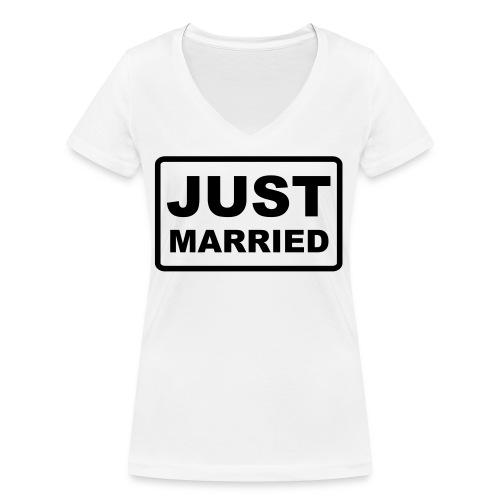 Just Married - Frauen Bio-T-Shirt mit V-Ausschnitt von Stanley & Stella