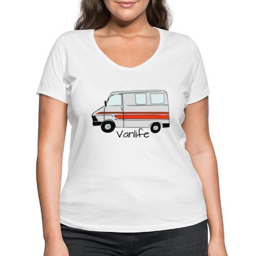 Freedom - T-shirt ecologica da donna con scollo a V di Stanley & Stella