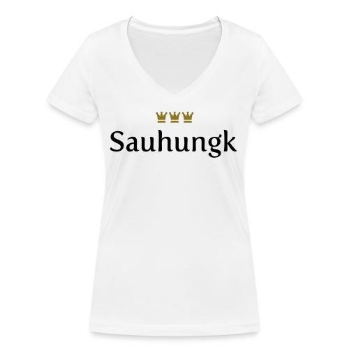 Sauhungk (Köln/Kölsch/Karneval) - Frauen Bio-T-Shirt mit V-Ausschnitt von Stanley & Stella