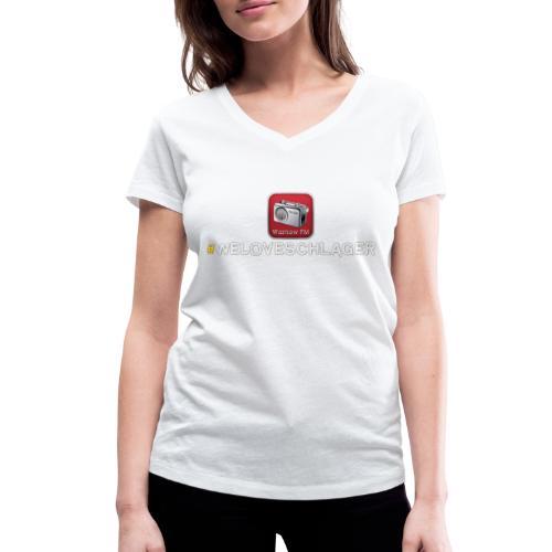 WeLoveSchlager 1 - Frauen Bio-T-Shirt mit V-Ausschnitt von Stanley & Stella
