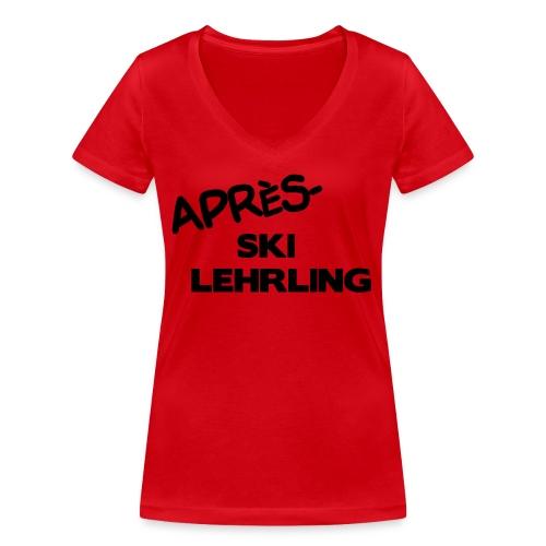 Après Ski Lehrling, Winter Shirt - Frauen Bio-T-Shirt mit V-Ausschnitt von Stanley & Stella