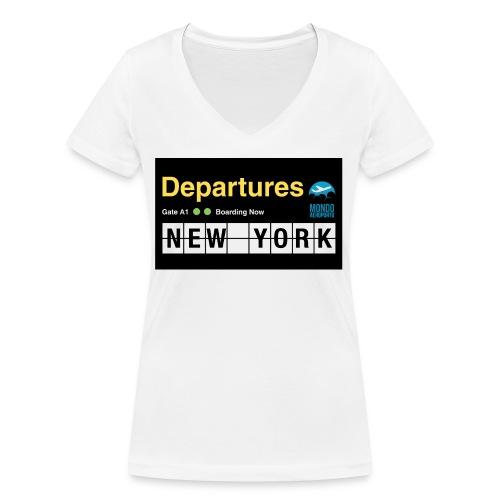 Departures Defnobarre 1 png - T-shirt ecologica da donna con scollo a V di Stanley & Stella