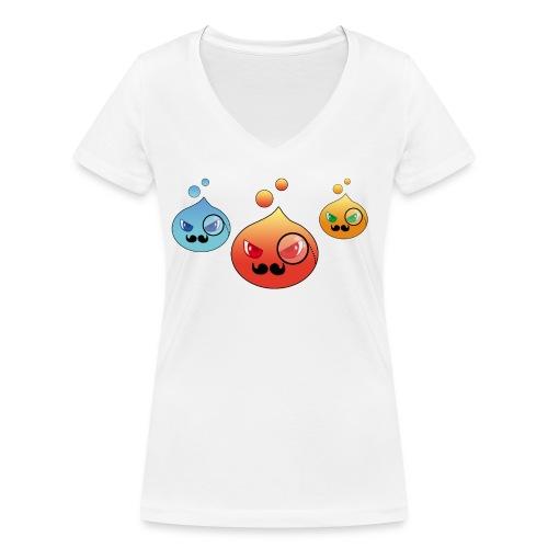 Outlezz - Gentlemen Slime - Frauen Bio-T-Shirt mit V-Ausschnitt von Stanley & Stella