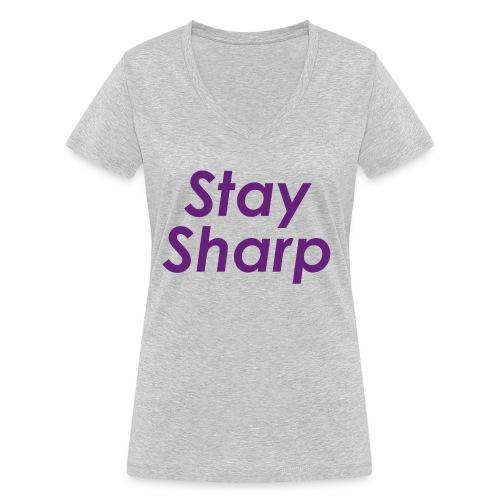 Stay Sharp - T-shirt ecologica da donna con scollo a V di Stanley & Stella