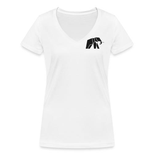 Schönes Elefanten Design für Elefanten Fans - Frauen Bio-T-Shirt mit V-Ausschnitt von Stanley & Stella