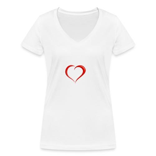 Monte Urano nel Cuore - T-shirt ecologica da donna con scollo a V di Stanley & Stella
