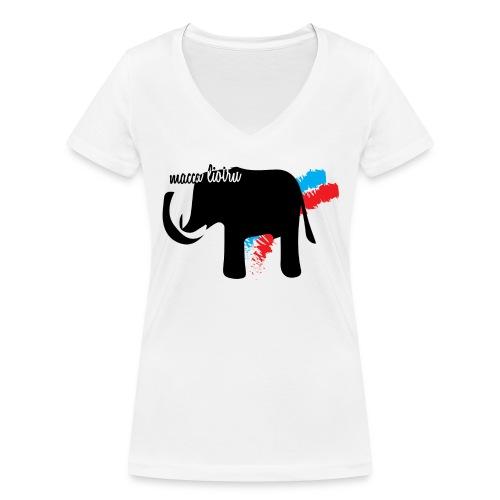 Macca Liotru - T-shirt ecologica da donna con scollo a V di Stanley & Stella