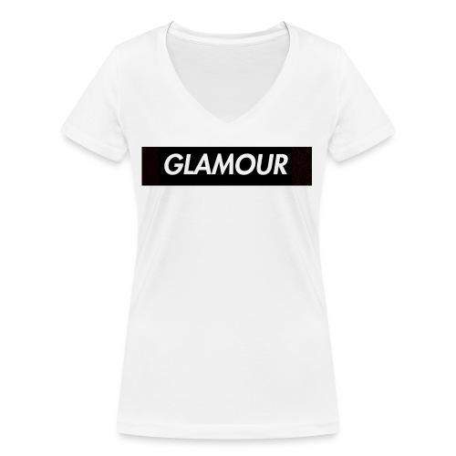 Glamour - Stanley & Stellan naisten v-aukkoinen luomu-T-paita