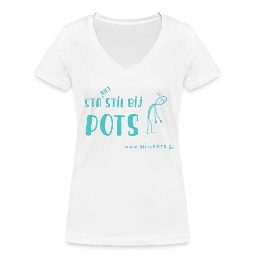 Sta (niet) stil bij POTS producten - Vrouwen bio T-shirt met V-hals van Stanley & Stella