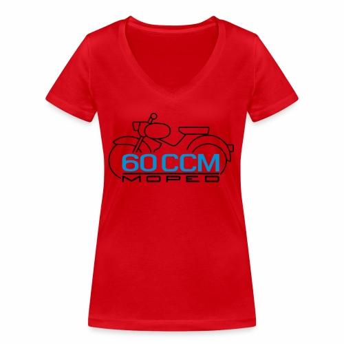 Moped sparrow 60 cc emblem - Women's Organic V-Neck T-Shirt by Stanley & Stella