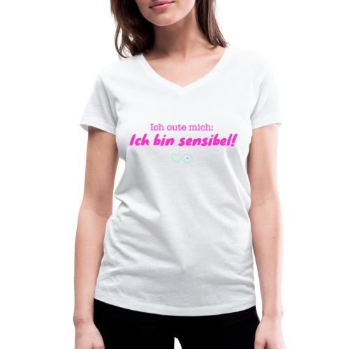Ich oute mich (pink) - Frauen Bio-T-Shirt mit V-Ausschnitt von Stanley & Stella