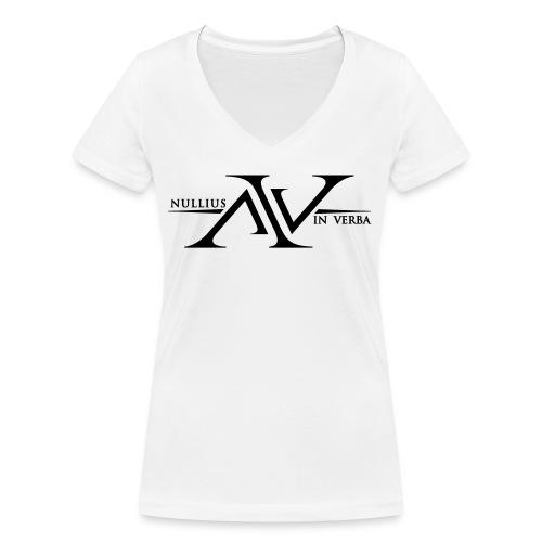 Nullius In Verba Logo - Women's Organic V-Neck T-Shirt by Stanley & Stella