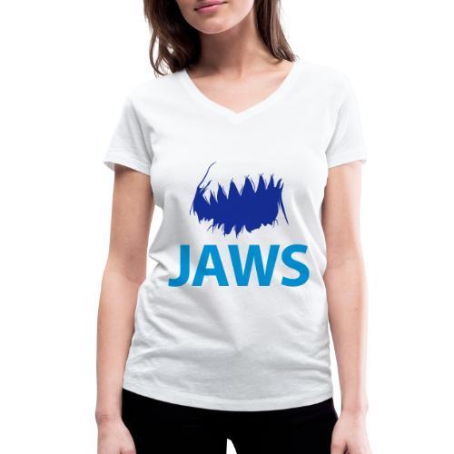 Jaws Dangerous T-Shirt - Women's Organic V-Neck T-Shirt by Stanley & Stella