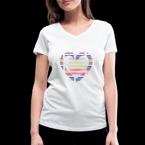 Love - Women's Organic V-Neck T-Shirt by Stanley & Stella