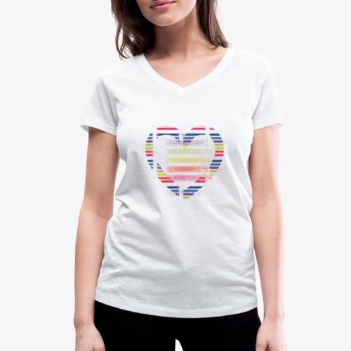 Love - T-shirt ecologica da donna con scollo a V di Stanley & Stella