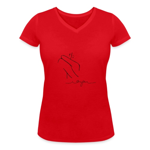 Regalo San Valentino Coppia | Sagome Abbracciate - T-shirt ecologica da donna con scollo a V di Stanley & Stella