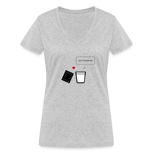 Regali per Innamorati   Mi Completi - T-shirt ecologica da donna con scollo a V di Stanley & Stella