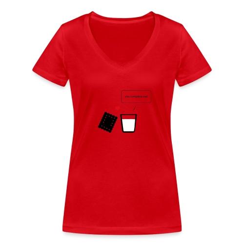 Regali per Innamorati | Mi Completi - T-shirt ecologica da donna con scollo a V di Stanley & Stella