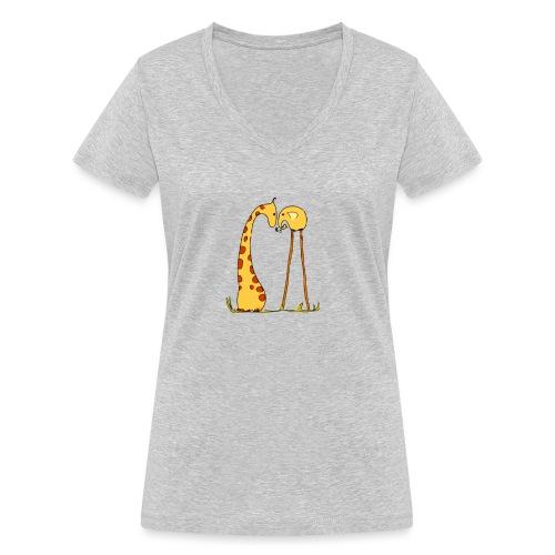 Maglietta San Valentino Tenera   con Animali - T-shirt ecologica da donna con scollo a V di Stanley & Stella