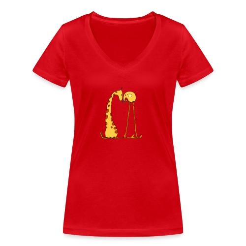 Maglietta San Valentino Tenera | con Animali - T-shirt ecologica da donna con scollo a V di Stanley & Stella