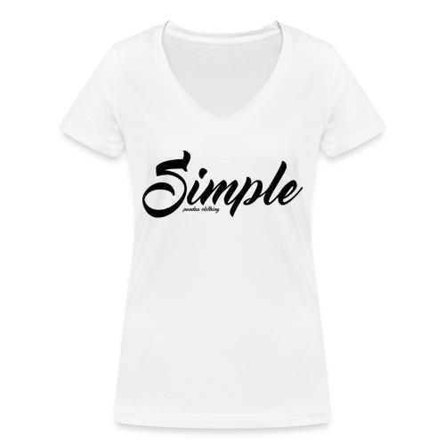 Simple: Clothing Design - Women's Organic V-Neck T-Shirt by Stanley & Stella