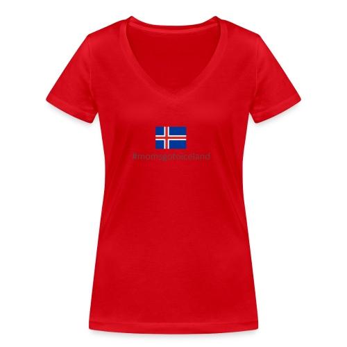 Iceland - Women's Organic V-Neck T-Shirt by Stanley & Stella