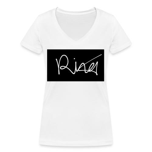 Autogramm - Frauen Bio-T-Shirt mit V-Ausschnitt von Stanley & Stella