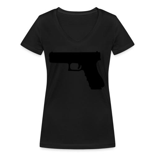 The Glock 2.0 - Women's Organic V-Neck T-Shirt by Stanley & Stella