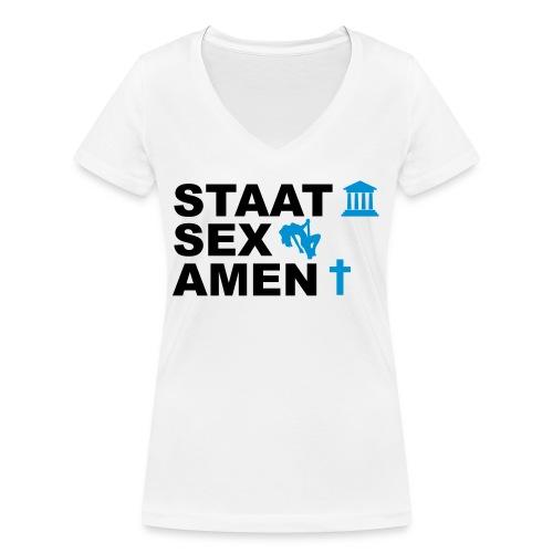 Staatsexamen / Staat Sex Amen - Frauen Bio-T-Shirt mit V-Ausschnitt von Stanley & Stella