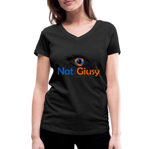 Nat e Giusy - T-shirt ecologica da donna con scollo a V di Stanley & Stella