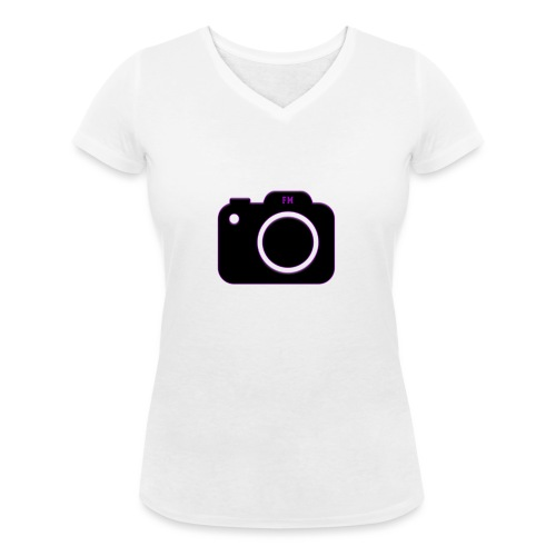 FM camera - Women's Organic V-Neck T-Shirt by Stanley & Stella
