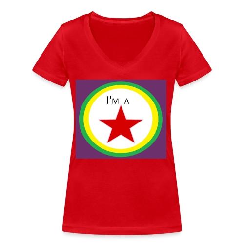 I'm a STAR! - Women's Organic V-Neck T-Shirt by Stanley & Stella
