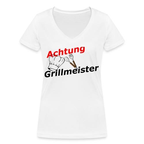 Grillmeister - Frauen Bio-T-Shirt mit V-Ausschnitt von Stanley & Stella