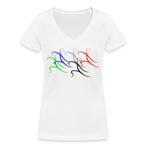 Tai Chi Gruppe - Frauen Bio-T-Shirt mit V-Ausschnitt von Stanley & Stella
