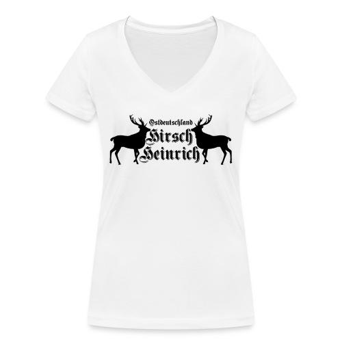 hirsch ostdeutschland - Frauen Bio-T-Shirt mit V-Ausschnitt von Stanley & Stella