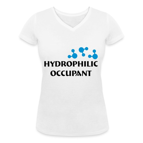 Hydrophilic Occupant (2 colour vector graphic) - Women's Organic V-Neck T-Shirt by Stanley & Stella
