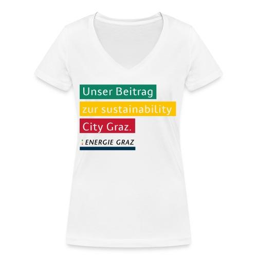 Energie Graz Vision - Frauen Bio-T-Shirt mit V-Ausschnitt von Stanley & Stella