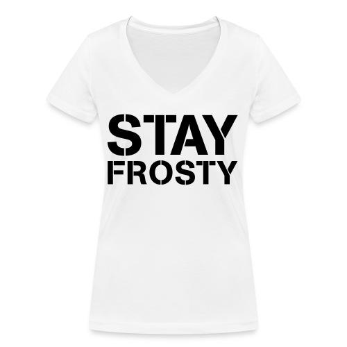 Stay Frosty - Women's Organic V-Neck T-Shirt by Stanley & Stella