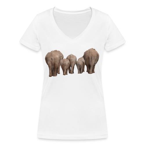 elephant 1049840 - T-shirt ecologica da donna con scollo a V di Stanley & Stella