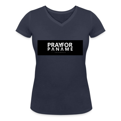 TEE-SHIRT HOMME - PRAY FOR PANAME - T-shirt bio col V Stanley & Stella Femme