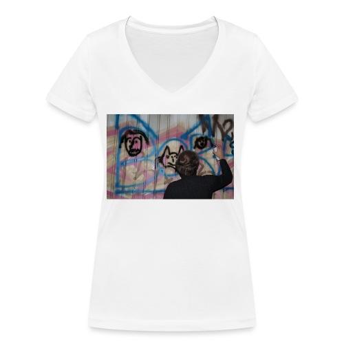 fox1 - T-shirt bio col V Stanley & Stella Femme