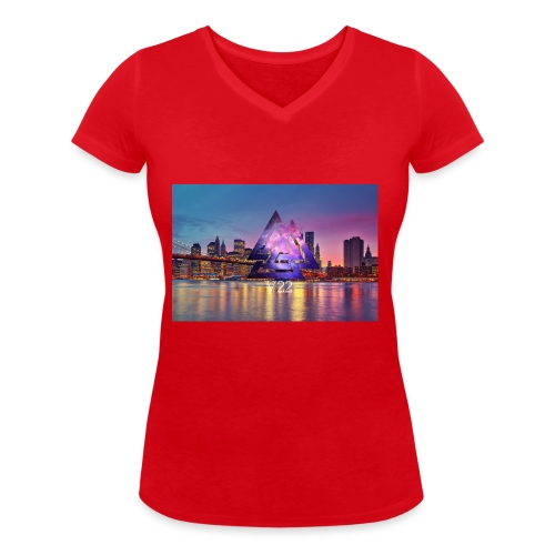 7BB39707 5D27 460C A1B9 AAD957D51321 - Ekologisk T-shirt med V-ringning dam från Stanley & Stella