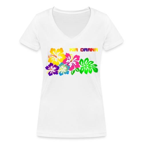 Kia orana - Frauen Bio-T-Shirt mit V-Ausschnitt von Stanley & Stella