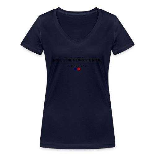 non je ne regrette rien - T-shirt bio col V Stanley & Stella Femme