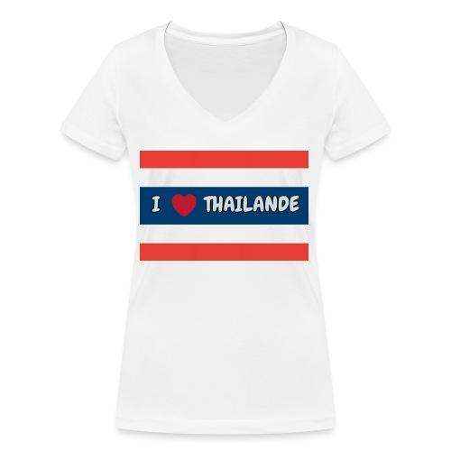 PhotoText 1522628401354 1 - T-shirt bio col V Stanley & Stella Femme