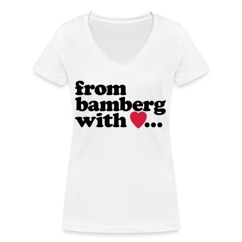 From Bamberg With Love - Frauen Bio-T-Shirt mit V-Ausschnitt von Stanley & Stella