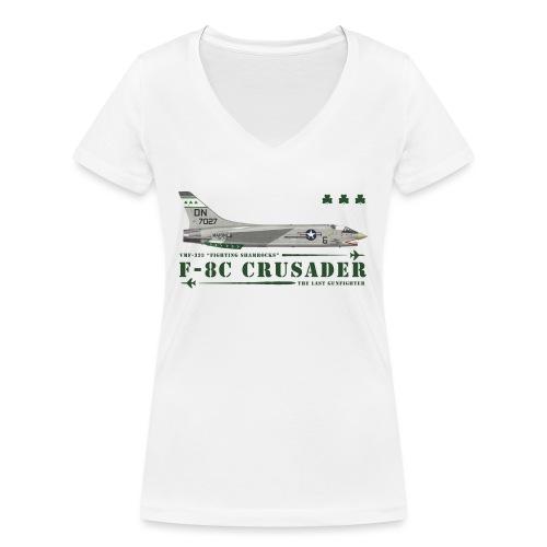 F-8C Crusader VMF-333 - T-shirt bio col V Stanley & Stella Femme