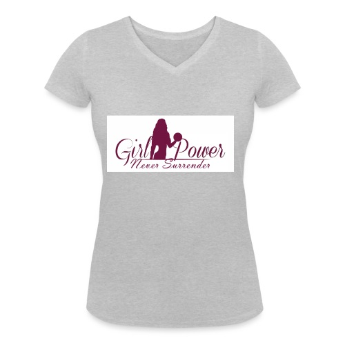 GIRL POWER NEVER SURRENDER - Camiseta ecológica mujer con cuello de pico de Stanley & Stella