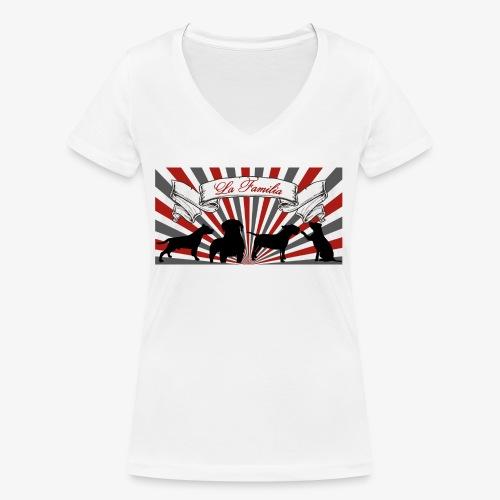 La Familia - Frauen Bio-T-Shirt mit V-Ausschnitt von Stanley & Stella
