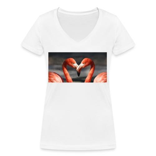 flamingo - Frauen Bio-T-Shirt mit V-Ausschnitt von Stanley & Stella
